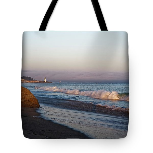 Waves At Santa Cruz Tote Bag