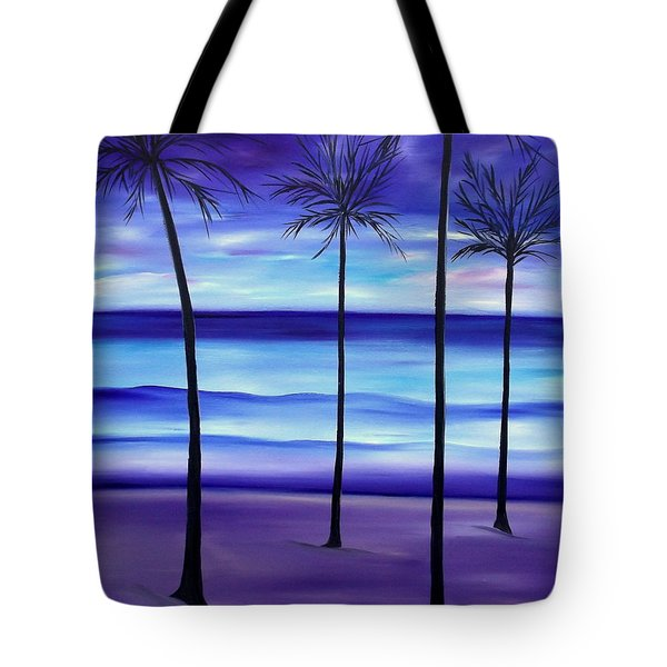 Waves At Twilight Tote Bag