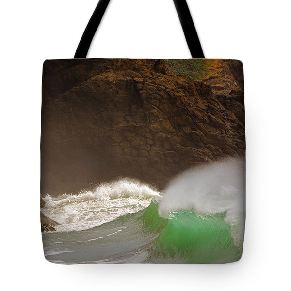 Waves At Waikiki Tote Bag