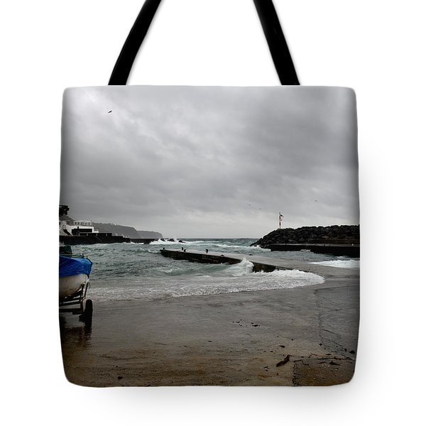 Waves Azores-033 Tote Bag
