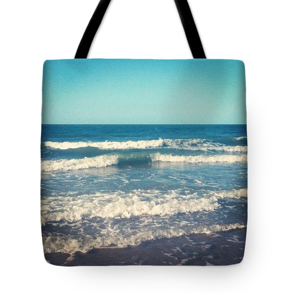 #waves #blue #water #ocean #beach Tote Bag