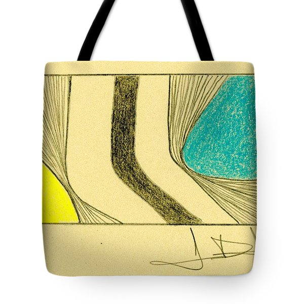 Waves Blue Yellow Tote Bag