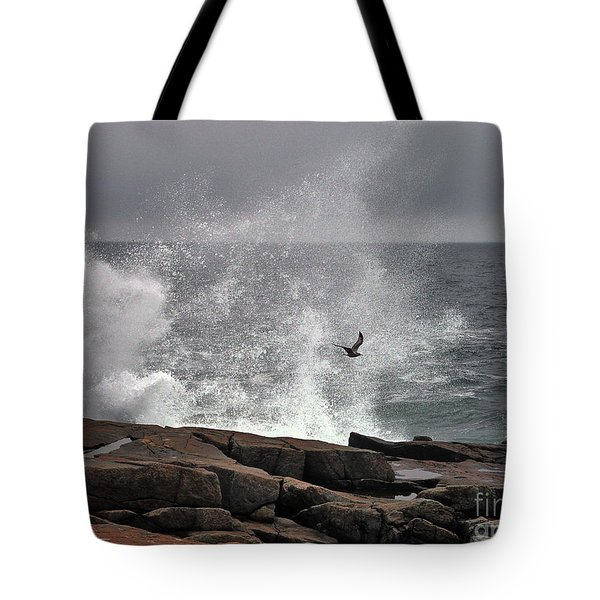 Waves Crashing  Tote Bag