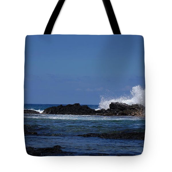 Waves Crashing Tote Bag by Pamela Walton