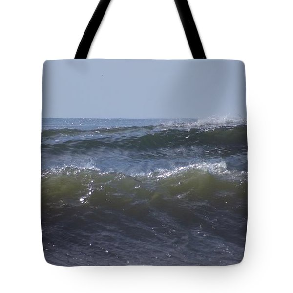 Waves In A Set Tote Bag