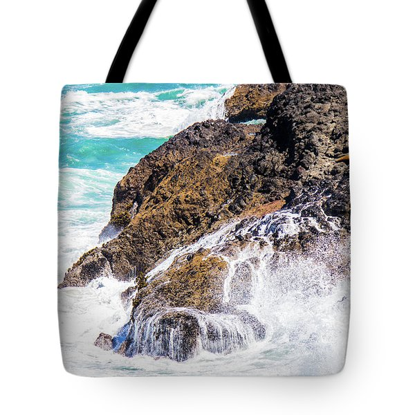 Tote Bag featuring the photograph Waves In The Pacific by Jonny D