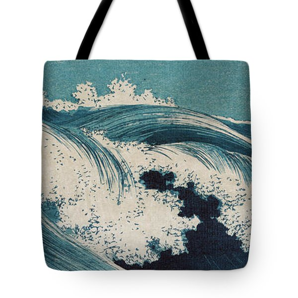 Tote Bag featuring the painting Waves by Konen Uehara