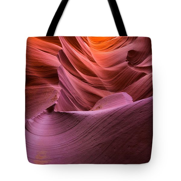 Waves-lower Antelope Canyon Tote Bag by Tim Bryan