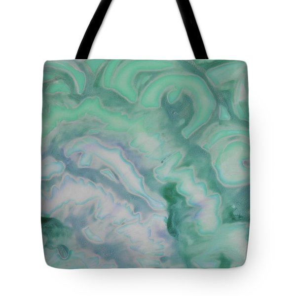 Tote Bag featuring the painting Waves by Michele Myers