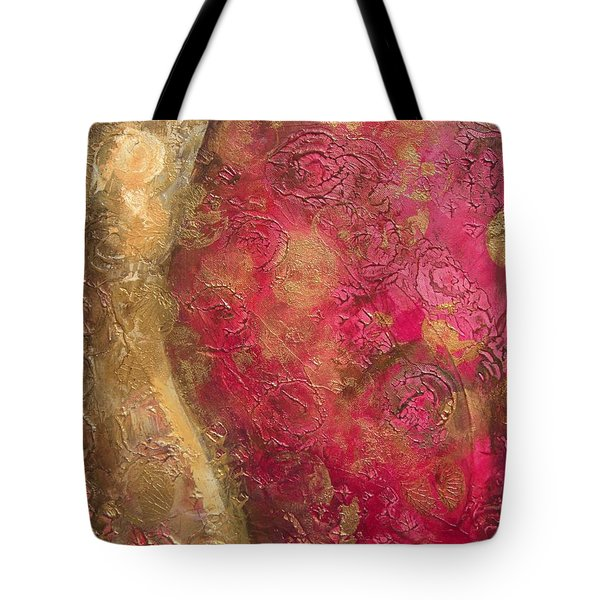 Waves Of Circles On Fuchsia Tote Bag