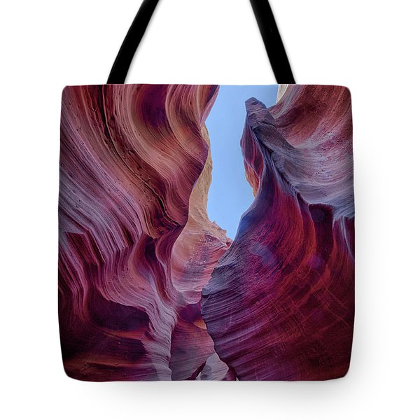 Tote Bag featuring the photograph Waves Of Color by T A Davies