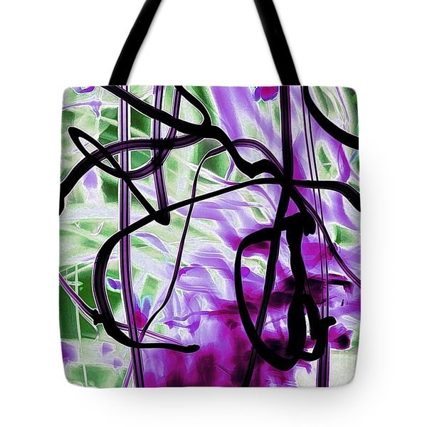 Waves Of Purple Tote Bag
