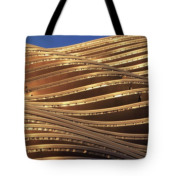 Waves Of Steel Tote Bag