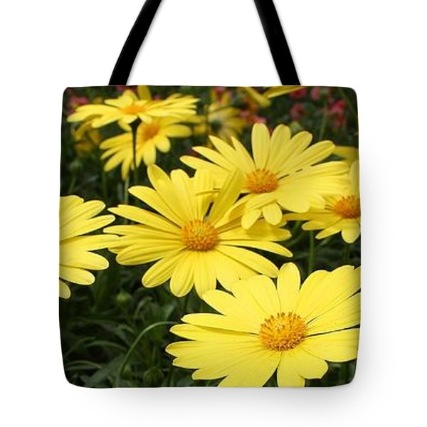 Waves Of Yellow Daisies Tote Bag