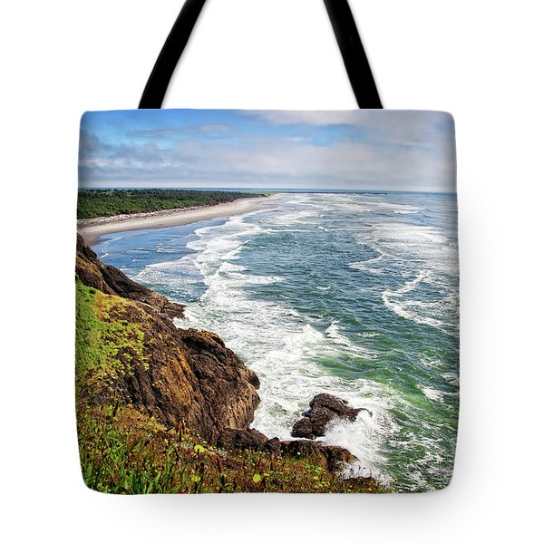 Waves On The Washington Coast Tote Bag