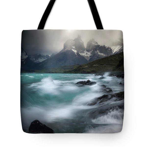 Waves On Waves Tote Bag