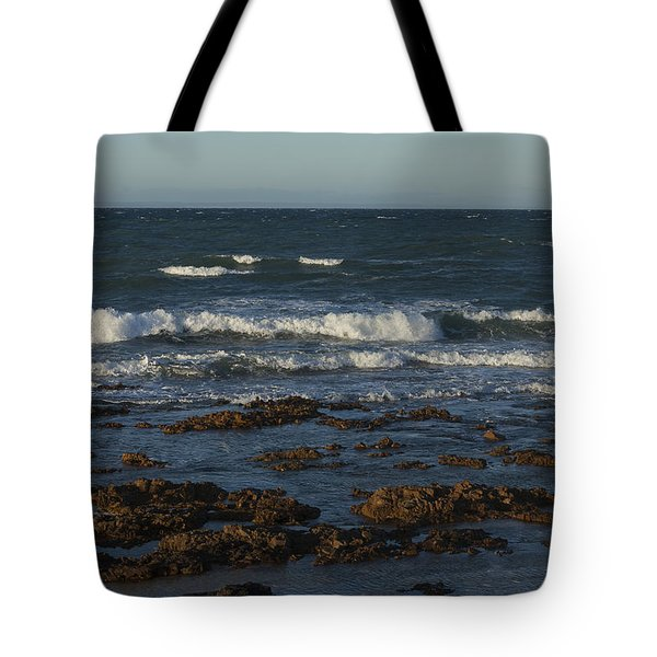 Waves Rolling Ashore Tote Bag