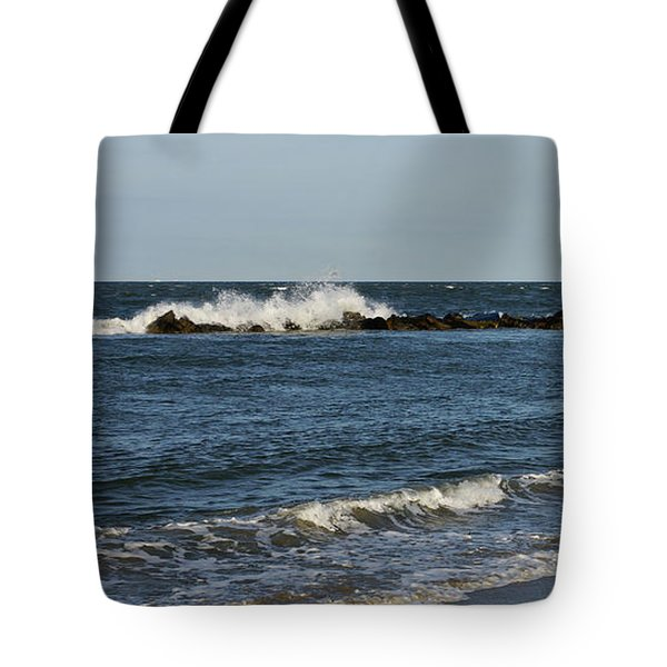 Tote Bag featuring the photograph Waves by Sandy Keeton
