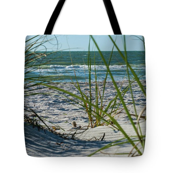 Waves Through The Grass Tote Bag