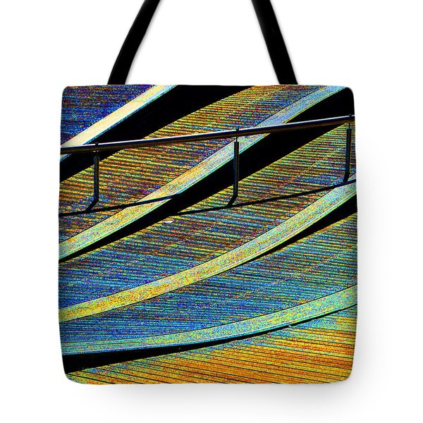 Tote Bag featuring the photograph Waveway 2  by Lyle Crump