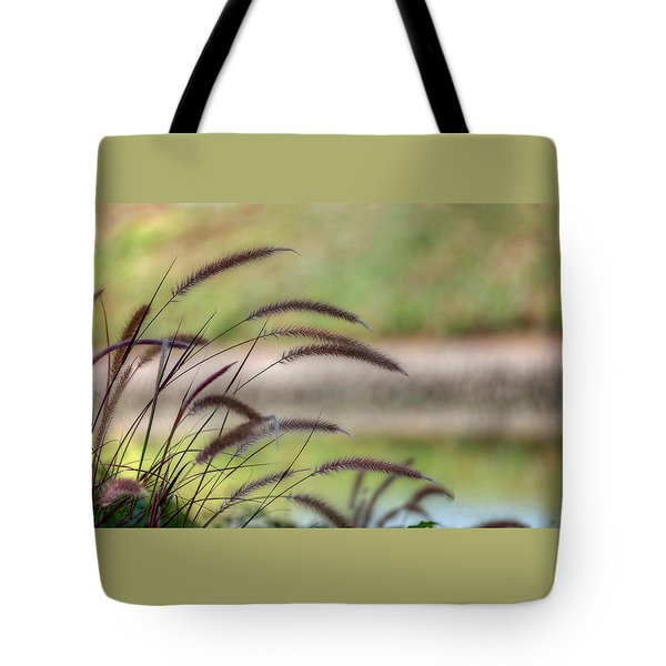 Tote Bag featuring the photograph Waving Fountain Grass by Richard Stephen