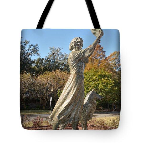 Waving Girl Of Savannah Tote Bag