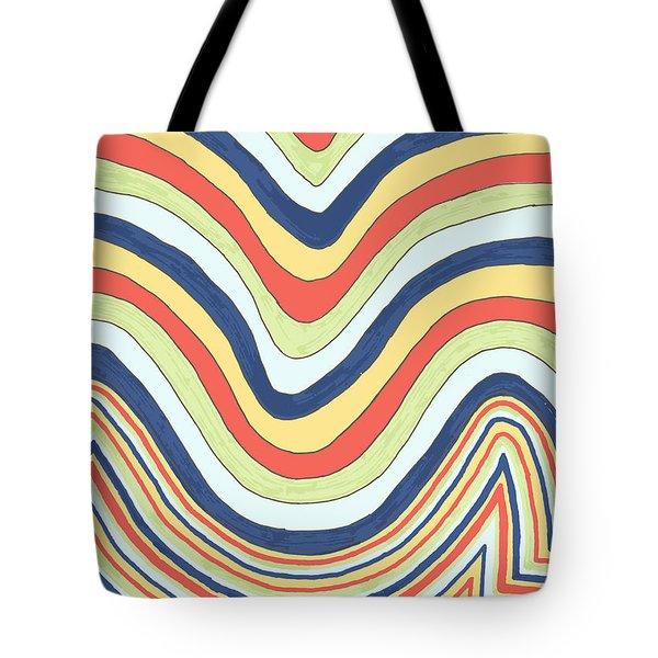 Waving Tote Bag by Jill Lenzmeier
