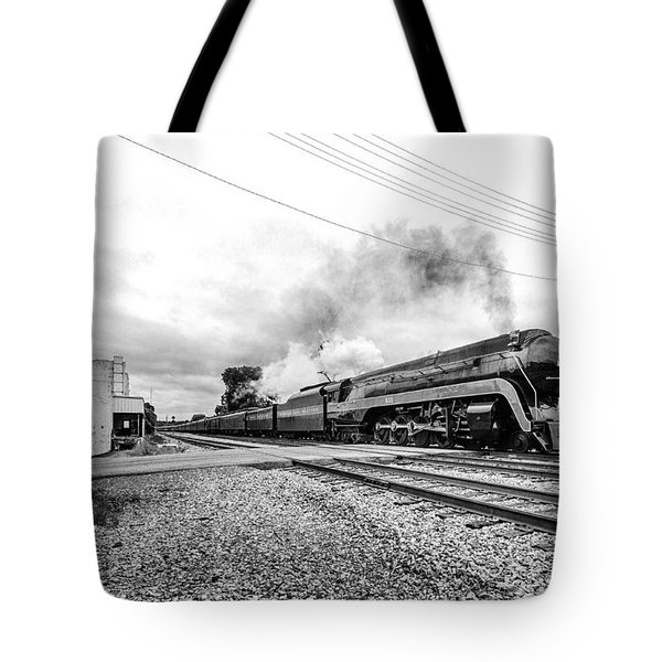 Waving To The 611 In Bedford Va Tote Bag by Alan Raasch