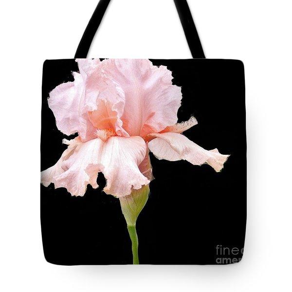 Wavy Pink Iris Tote Bag
