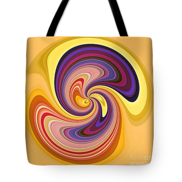 Wavy Stripes Figure 1 Tote Bag