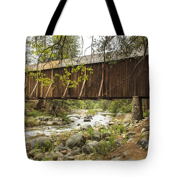 Wawona Covered Bridge Yosemite Tote Bag
