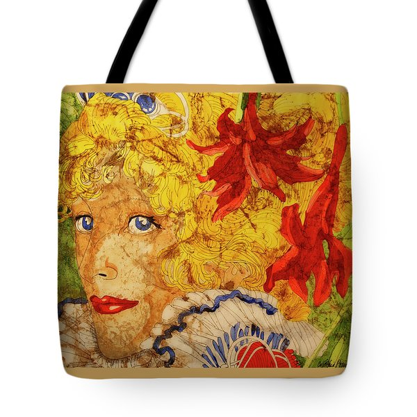 Tote Bag featuring the painting Wax On Wax Off by Cynthia Powell