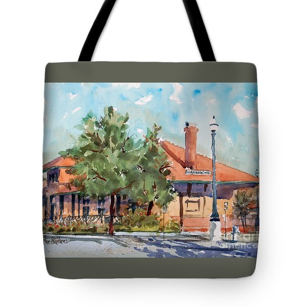 Waxachie Train Station Tote Bag by Ron Stephens