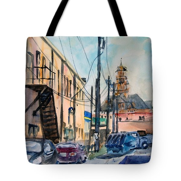 Waxahachie Back Alley Tote Bag by Ron Stephens