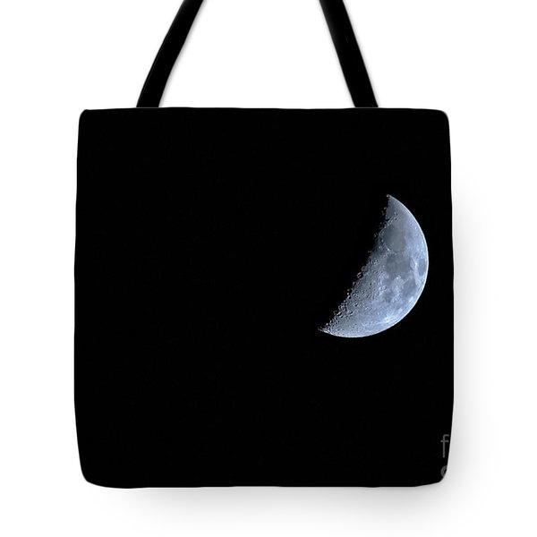 Waxing Crescent Moon With Lunar X Tote Bag by Charline Xia