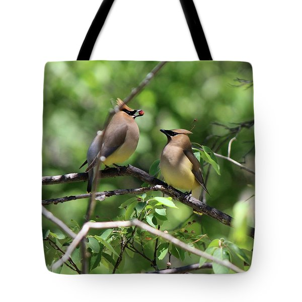 Waxwing Socialism Tote Bag