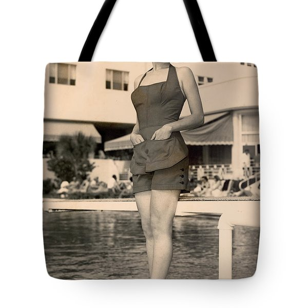 Way Back Then At The Fontainebleau In Miami Beach Tote Bag