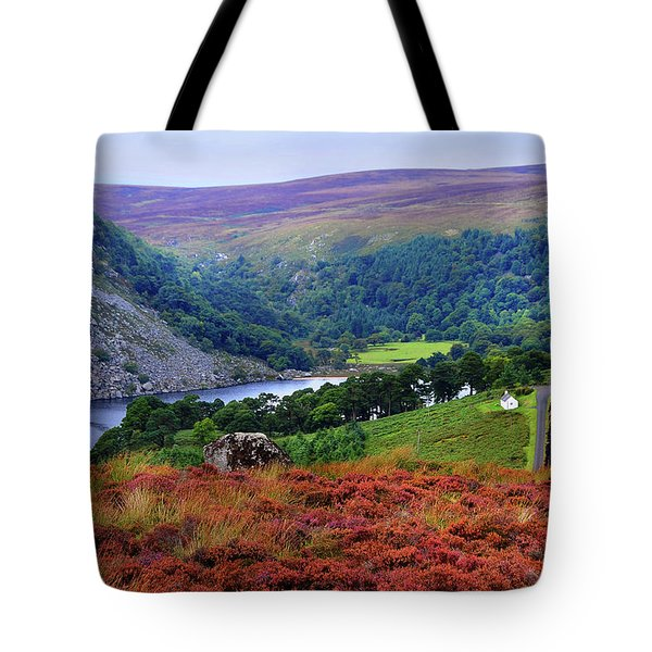 Tote Bag featuring the photograph Way Home. Wicklow. Ireland by Jenny Rainbow