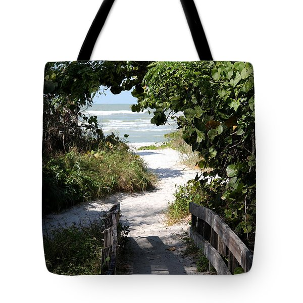 Way To The Beach Tote Bag by Christiane Schulze Art And Photography