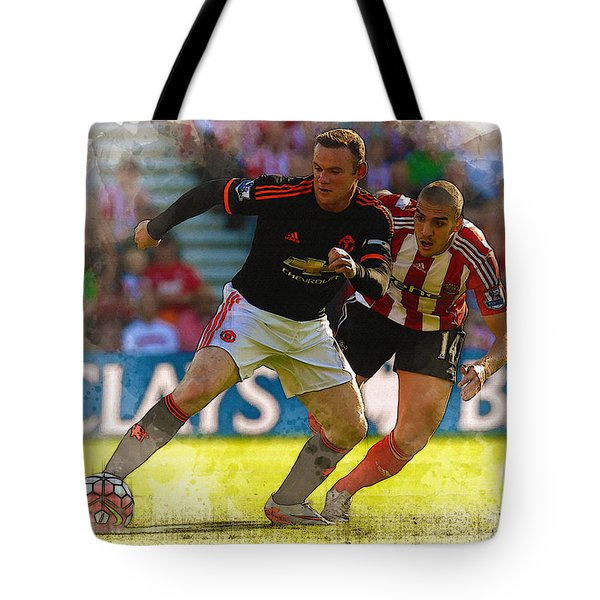 Wayne Rooney Is Marshalled Tote Bag by Don Kuing