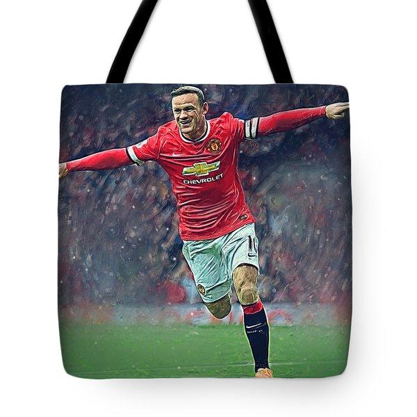 Wayne Rooney Tote Bag by Semih Yurdabak