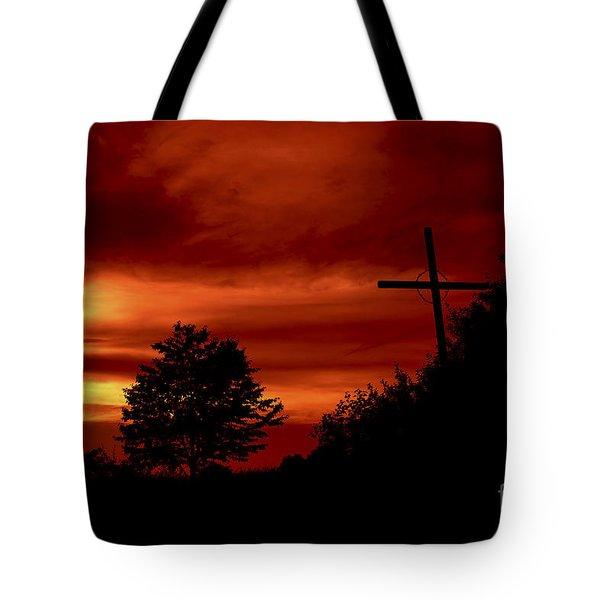 Wayside Cross Tote Bag by Michal Boubin