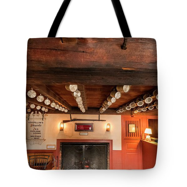 Tote Bag featuring the photograph Wayside Inn Bar by Tom Singleton