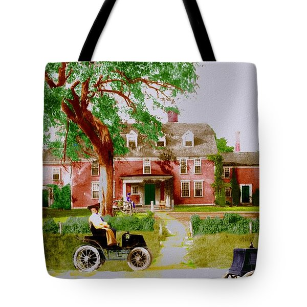 Wayside Inn With Autos Tote Bag