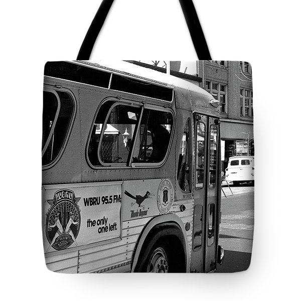 Wbru-fm Bus Sign, 1975 Tote Bag