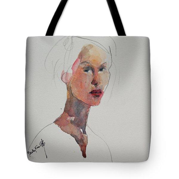 Wc Mini Portrait 2 Tote Bag by Becky Kim