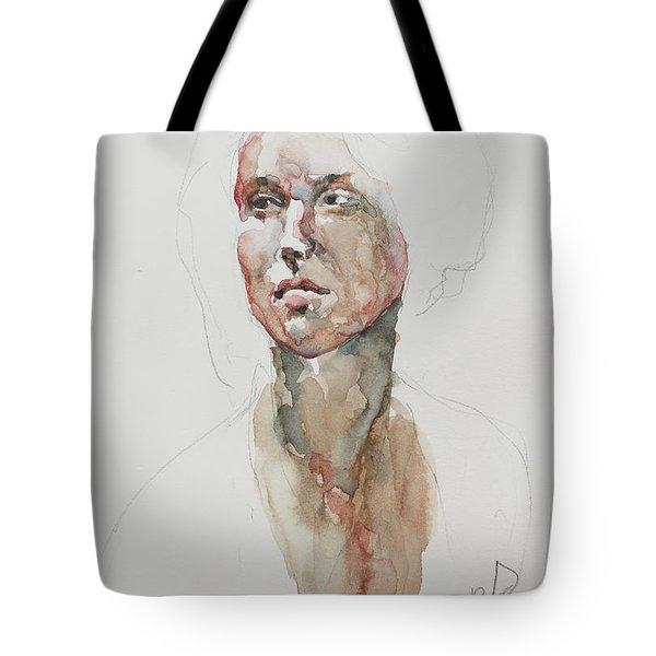 Wc Mini Portrait 5             Tote Bag by Becky Kim