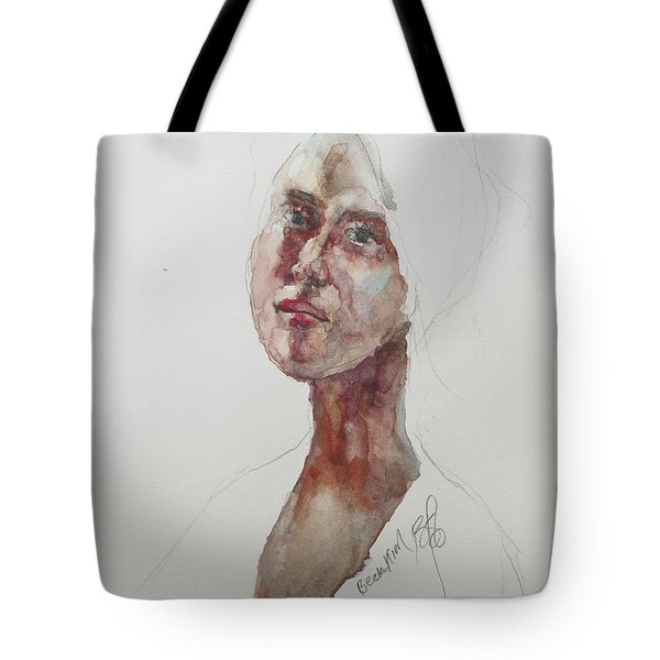 Wc Mini Portrait 7             Tote Bag by Becky Kim