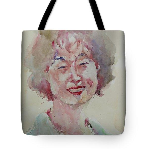 Wc Portrait 1627 My Sister Hyunju Tote Bag by Becky Kim
