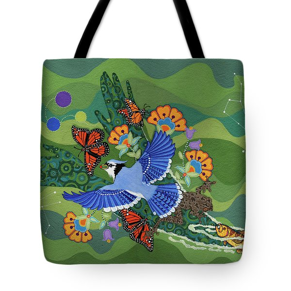 Tote Bag featuring the painting We Are One by Chholing Taha